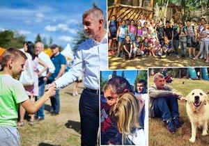 Andrej Babiš během setkávání s občany