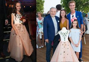 Gott s malou Charlotte pomáhají nemocným dětem: Karel vydražil dceřiny šaty za 200 tisíc.
