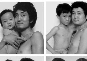 Otec se synem se fotili dlouhých 26 let. Podívejte se.