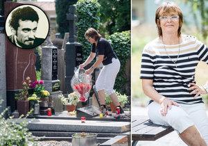 Olga Matušková navštívila hrob Waldy Matušky.