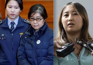 Důvěrnice exprezidentky Čche Sun-sil sjednala protekci pro dceru Čchung Ju-ra.