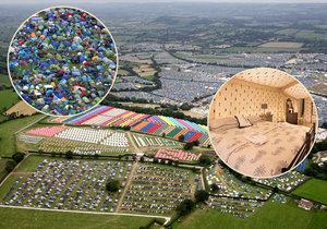 Stanové peklo v Glastonbury: Desetitisíce lidí se tísní ve stanovém městečku, boháči mají luxusní jurtu.
