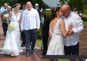 Multimilionář Masný (62) se oženil: Kdysi zmlátil milenku, teď si bral o 35 let mladší