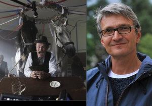 Při natáčení filmu Po strništi bos museli do skutečné hospody nacpat dva koně a celý štáb.