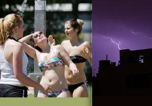 Do Česka opět míří silné bouřky.