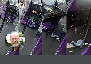 Autobus smetl Angličana. On vstal, sebral se a šel do hospody.