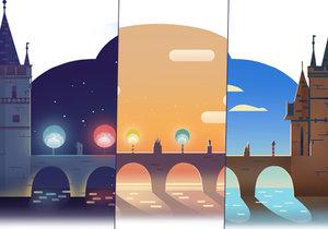 Krásný animovaný Doodle věnoval Google 660. výročí postavení základního kamene Karlova mostu.