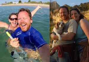 Manželé Jason a Julie odešli ve 40 letech do důchodu a cestují po celé Evropě.
