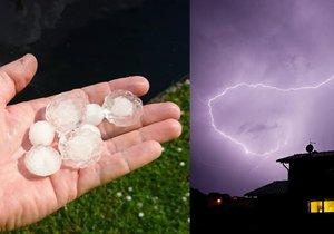 Na Česko jdou silné bouřky, čekejte i kroupy.