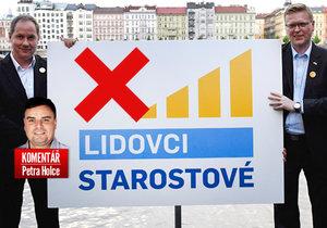 Šéfové Starostů Petr Gazdík a lidovců Pavel Bělobrádek mohou teď logo společné koalice zahodit.