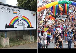 """Heslem kampaně 7. ročníku festivalu Prague Pride je """"zbytečný festival""""."""