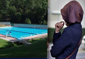 Žena si na koupališti v Praze fotila muslimku. Pak do ní kopala a škrtila ji