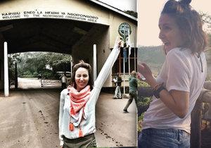 Veronika Arichteva se vydala do Afriky.