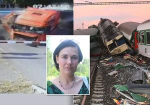 Neposlechla jsem svůj instinkt, říká přeživší obou vlakových nehod ve Studénce