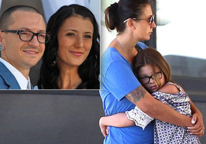 Zatímco se objevila nepravdivá zpráva, že byl zpěvák Linkin Park zavražděn, vyrazila vdova ven s dcerkami.