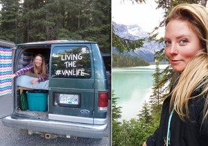 Novozélanďanka Yvette Morrissey dala výpověď, prodala své věci a vyrazila na cestu napříč Kanadou v dodávce.