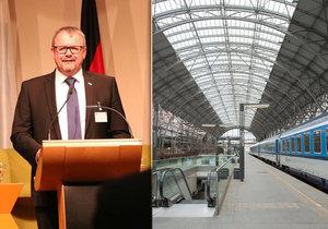 Ministr dopravy Dan Ťok jednal v Bavorsku o železničním propojení Prahy a Mnichova.