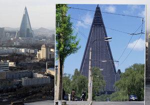 Severokorejský mrakodrap je třicet let nevyužitý.
