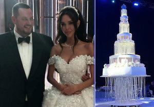 Nejluxusnější svatba roku v Rusku: Oligarcha Saša a modelka Xenie