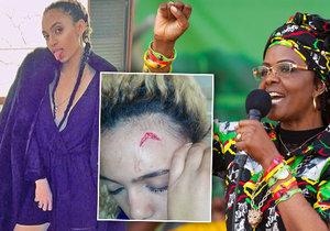 První dáma Zimbabwe napadla sexy modelku.