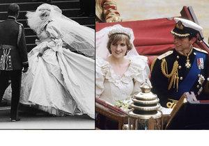 Lady Diana měla ve svatebních šatech schované jídlo.