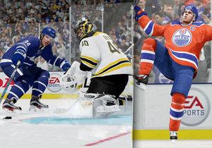 Záběry z videohry NHL 18.