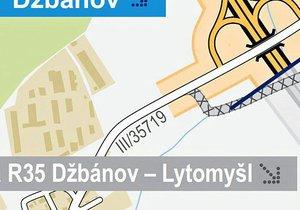 Internet se baví hrubou chybou v mapě Ředitelství silnic a dálnic