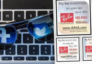 Český Facebook ohrožuje falešná reklama na sluneční brýle.