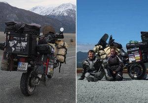 Fanda a Kačka vyrazili na motorce kolem světa.