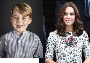 Kate Doufá, že bude moci s Georgem jít první den do školky.