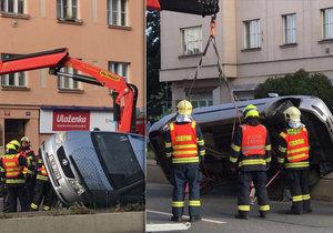 Nehoda zablokovala ulici 5. května ve směru na Brno.
