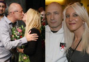 Mirjam a Dan Landa se líbali po premiéře Krysaře.