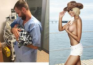 Hana Mašlíková kvůli silikonovým implantátům nemůže kojit svého novorozeného syna.