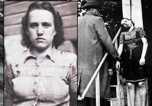 Herta Kašparová byla popravena za zločiny proti lidskosti 13. září 1946.