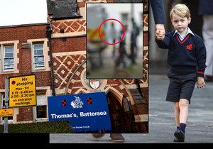 Žena se vloupala k princi Georgovi do školy.