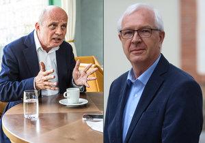 Kandidáti na prezidenta Michal Horáček a Jiří Drahoš
