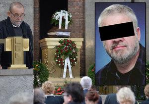 Smuteční řeč na pohřbu Aleše P. měl moderátor Vladimír Kučera.