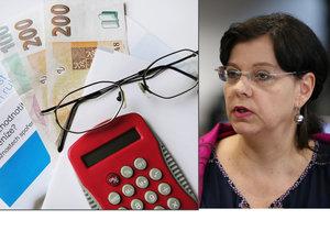 Důchody se zvýší průměrně o 475 korun, slibuje ministryně Marksová.