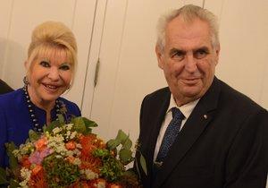 Miloš Zeman se potkal s exmanželkou Trumpa