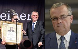 Zeman v New Yorku obdržel cenu Bojovníka za pravdu, v Česku to nezůstalo bez odezvy. Co na to Miroslav Kalousek?