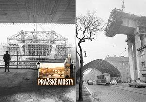 Takhle stavěli most sebevrahů: Co všechno dělníci schovali v tubusu Nuseláku?