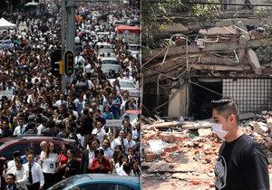 Další rána: Silné zemětřesení otřáslo Mexikem a zabilo nejméně 47 lidí