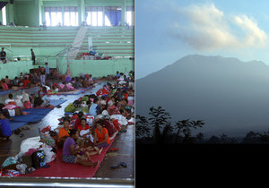 Před hrozbou erupce sopky Agung na Bali prchlo přes 35 tisíc lidí.