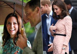 Vévodkyně Kate čeká třetího potomka v dubnu 2018.