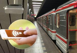 V šesti stanicích pražského metra od úterý funguje wi-fi.
