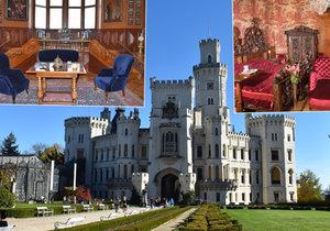 Na zámku Hluboká otevřeli 2. patro návštěvníkům. K vidění je unikátní Salon Tegetthoff.