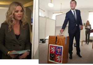 Babiš se omlouval za dav u voleb v Průhonicích. Volila s ním i manželka Monika.