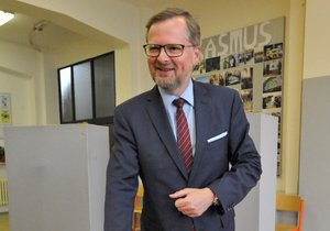 Předseda a lídr ODS Petr Fiala odvolil při sněmovních volbách 20. října v Brně.