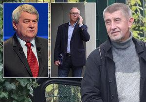 Andrej Babiš začal první povolební jednání. Dorazil také bývalý prezidentský kandidát Jan Švejnar.