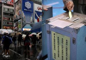 Japonci jdou předčasně k volbám, tajfunu navzdory